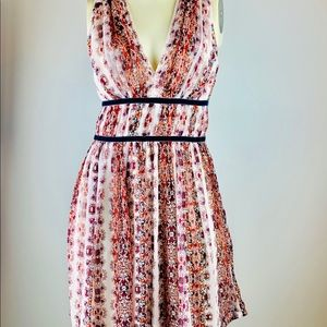 Abercrombie and Fitch floral v neck dress.